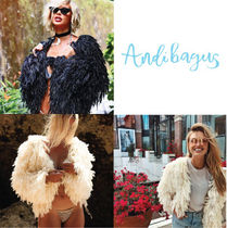 ANDI BAGUS Short Faux Fur Street Style Handmade Cashmere & Fur Coats