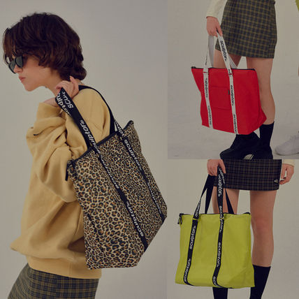 Leopard Patterns Casual Style Unisex Street Style A4 Plain