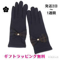 MARY QUANT Tartan Casual Style Plain Smartphone Use Gloves