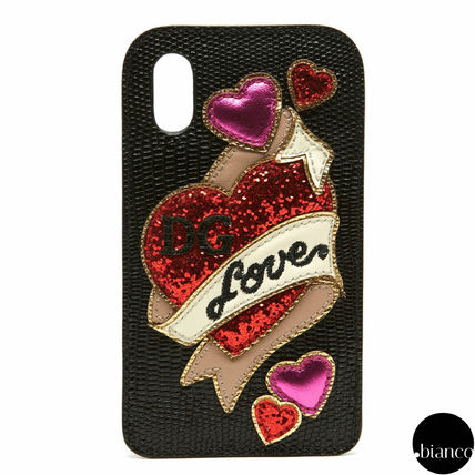 Heart Unisex Street Style Leather Smart Phone Cases