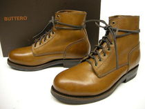 Buttero Plain Toe Leather Boots
