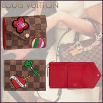 Louis Vuitton DAMIER Other Check Patterns Heart Canvas Blended Fabrics