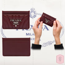 PRADA DIAGRAMME Plain Leather With Jewels Bold Card Holders