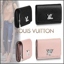 Louis Vuitton TWIST Blended Fabrics Plain Leather Small Wallet Folding Wallets