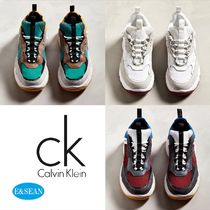 Calvin Klein Suede Blended Fabrics Street Style Sneakers