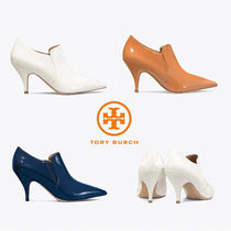 Tory Burch Plain Leather Ankle & Booties Boots