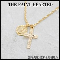 THE FAINT HEARTED Casual Style Cross 14K Gold Necklaces & Pendants