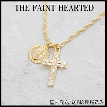 Casual Style Cross 14K Gold Necklaces & Pendants