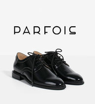 PARFOIS Platform Plain Toe Faux Fur Plain Office Style
