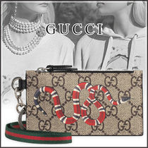 GUCCI Cambus Blended Fabrics Card Holders