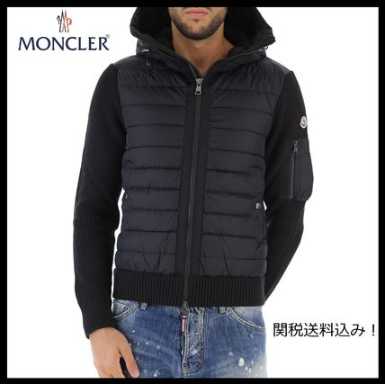 MONCLER Knits & Sweaters Unisex Wool Blended Fabrics Plain Knits & Sweaters