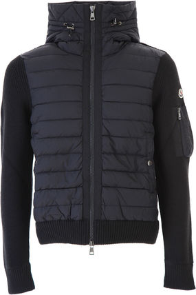 MONCLER Knits & Sweaters Unisex Wool Blended Fabrics Plain Knits & Sweaters 2