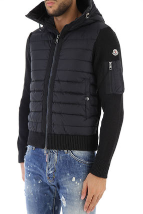 MONCLER Knits & Sweaters Unisex Wool Blended Fabrics Plain Knits & Sweaters 3