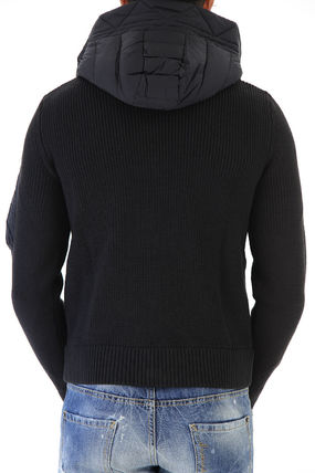 MONCLER Knits & Sweaters Unisex Wool Blended Fabrics Plain Knits & Sweaters 4