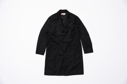 Supreme Unisex Wool Street Style Collaboration Long Chester Coats