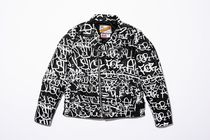 Supreme Unisex Street Style Collaboration Leather Biker Jackets