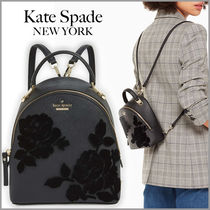 kate spade new york CAMERON STREET Flower Patterns Saffiano 2WAY Plain Elegant Style Backpacks