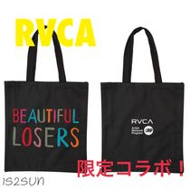 RVCA Unisex Canvas Street Style Collaboration A4 Shoppers