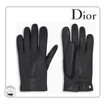 Christian Dior Street Style Plain Leather Leather & Faux Leather Gloves