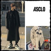 ASCLO Unisex Plain Long Oversized Trench Coats
