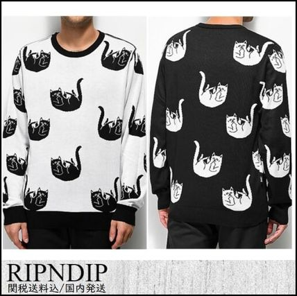 RIPNDIP Knits & Sweaters Crew Neck Pullovers Street Style Long Sleeves