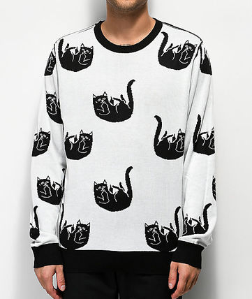 RIPNDIP Knits & Sweaters Crew Neck Pullovers Street Style Long Sleeves 3