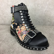 Jeffrey Campbell Flower Patterns Round Toe Casual Style Studded Street Style