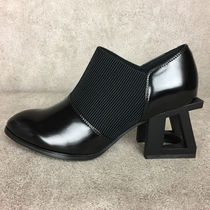 Jeffrey Campbell Plain Toe Street Style Plain Leather Block Heels