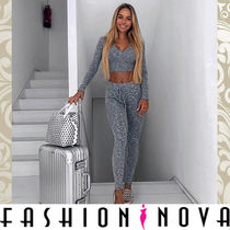FASHION NOVA Casual Style Plain Long Bottoms