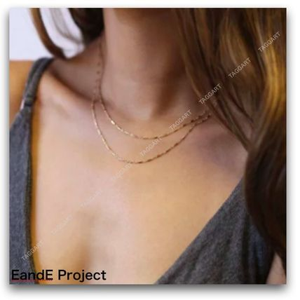 Casual Style Chain Handmade Silver 14K Gold Fine