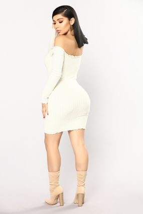 ... FASHION NOVA Dresses Short Tight Boat Neck Plain Cotton Elegant Style  Dresses 13 ... 50d20ebc0