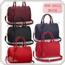 Louis Vuitton SPEEDY 18-19AW LV Monoglam empreinte 2WAY Boston & Duffles