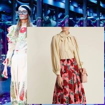 GUCCI Silk Puffed Sleeves Elegant Style Shirts & Blouses