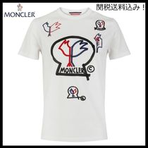 MONCLER Street Style Cotton Short Sleeves T-Shirts
