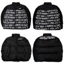 I AM NOT A HUMAN BEING Unisex Street Style Oversized Down Jackets