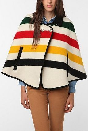 Short Stripes Wool Ponchos & Capes