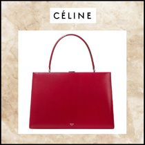 CELINE Clasp Leather Totes