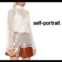 SELF PORTRAIT Casual Style Long Sleeves Medium Lace Shirts & Blouses