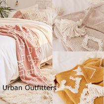 Urban Outfitters Tassel Geometric Patterns Throws