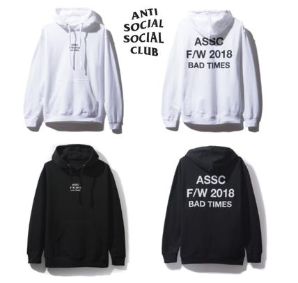 ANTI SOCIAL SOCIAL CLUB Hoodies Unisex Street Style Hoodies