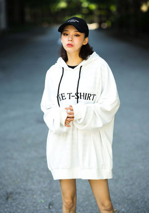 Hoodies Unisex Street Style Long Sleeves Plain Cotton Oversized 2