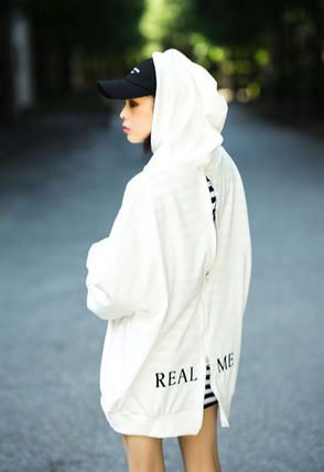 Hoodies Unisex Street Style Long Sleeves Plain Cotton Oversized 5
