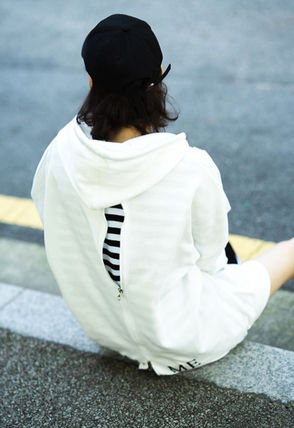 Hoodies Unisex Street Style Long Sleeves Plain Cotton Oversized 7