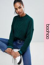 boohoo Cable Knit Casual Style Long Sleeves Knitwear