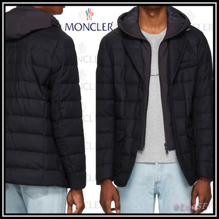 8868b0f39 MONCLER 2018-19AW Short Wool Street Style Plain Down Jackets ...