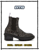 Eytys Casual Style Other Animal Patterns Leather Mid Heel Boots