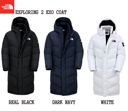 ... THE NORTH FACE Down Jackets Unisex Street Style Plain Long Down Jackets  ... c7be3d5ed