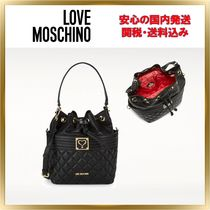 Love Moschino Plain Purses Elegant Style Shoulder Bags