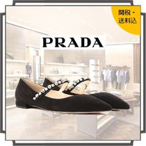 PRADA Casual Style Suede Blended Fabrics Bi-color Plain