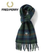 FRED PERRY Other Check Patterns Wool Accessories